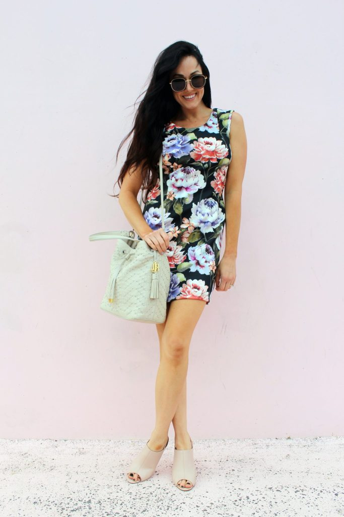 how to make a DIY Floral Scuba Dress..