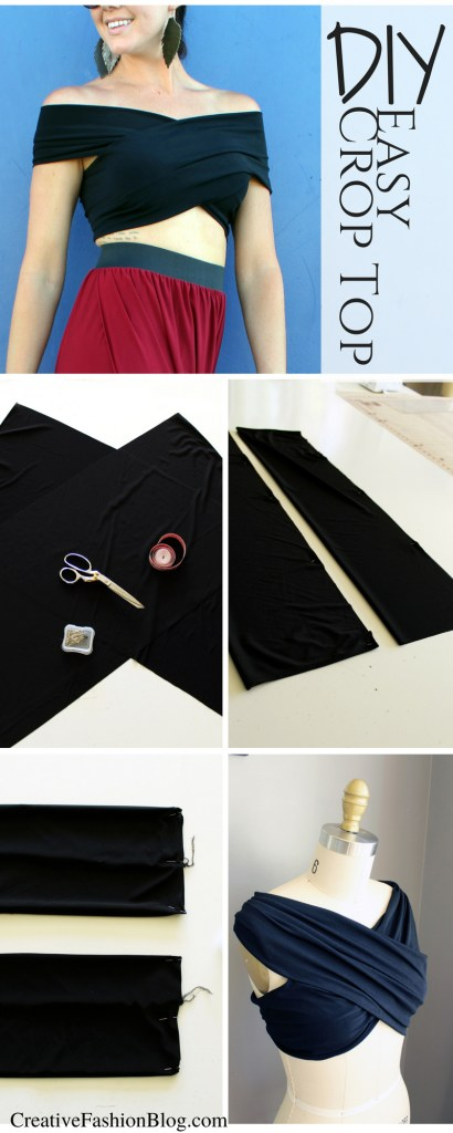 how to make an easy criss-cross crop top shirt . a sewing project ...
