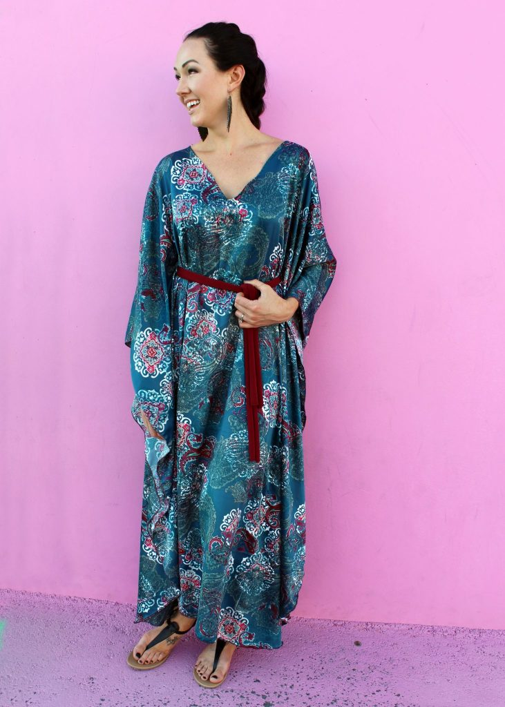 how to make an easy diy caftan..