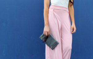 how to make easy DIY high waist wide leg palazzo pants .