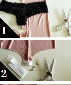 3 steps to DIY a bodysuit from a dress with this refashion