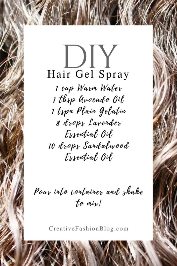 How to make DIY hair gel recipes with essential oils ...