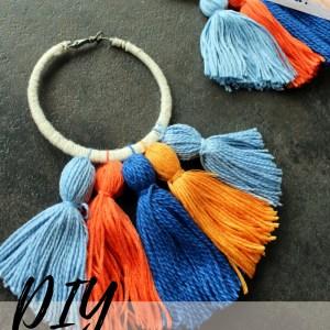 How to make Easy DIY boho tassel earrings with hoops tutorial. video tutorial.