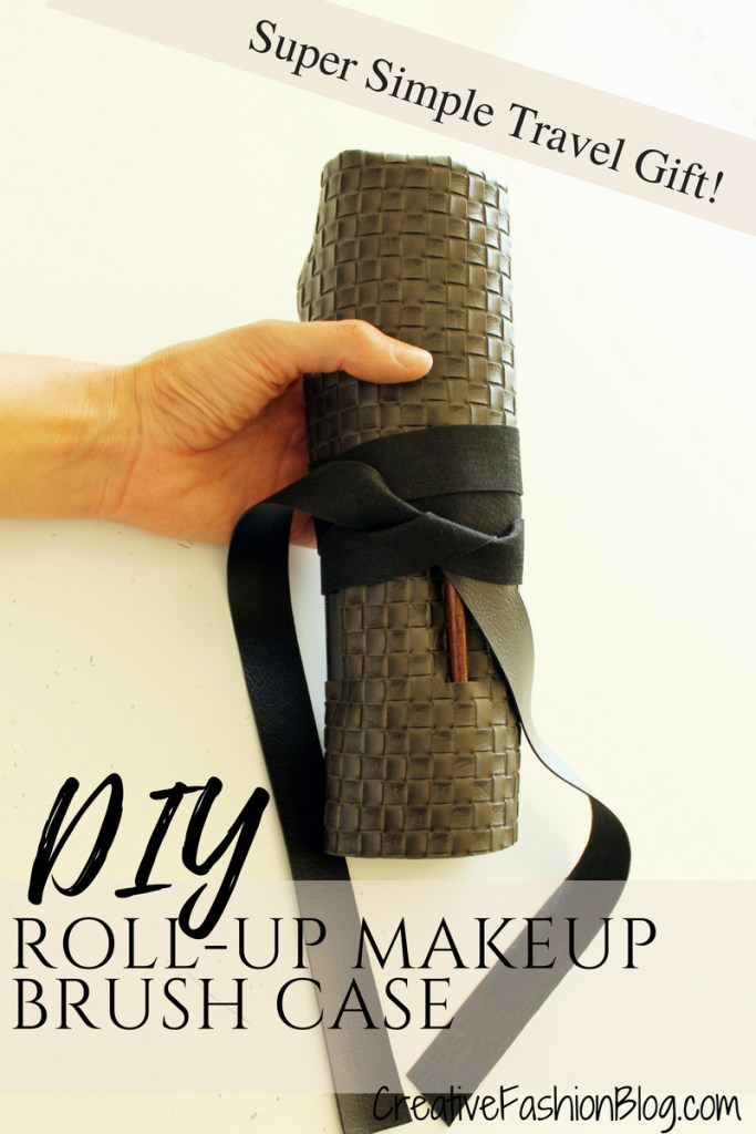 How to make a Roll Up DIY Makeup Brush Holder For Travel .