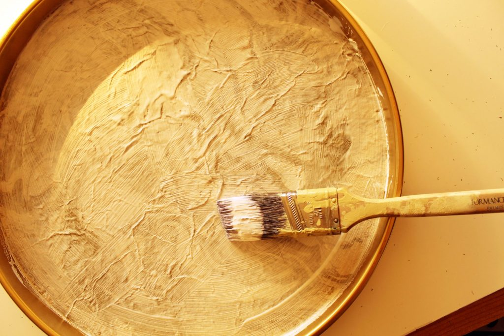 DIY Gold and Marble Tray With Marble Paper