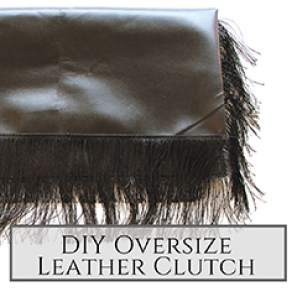 DIY Oversize Leather Clutch small