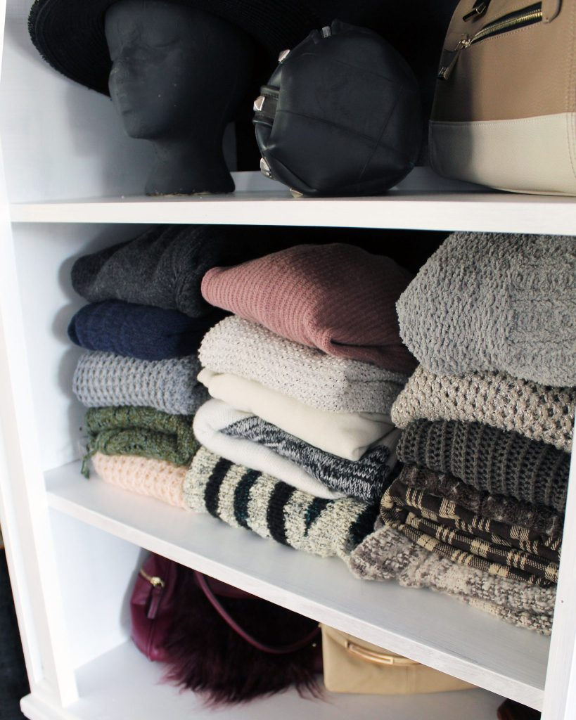 How to make a closet from an old bookcase.