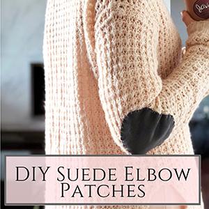 DIY Suede Elbow Patches