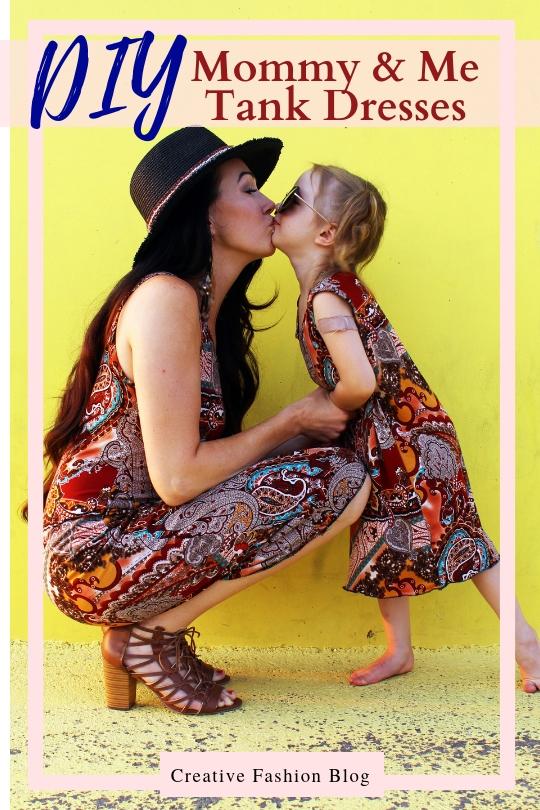 How to make DIY matching mommy and me fashion tee shirt dresses free pdf printable