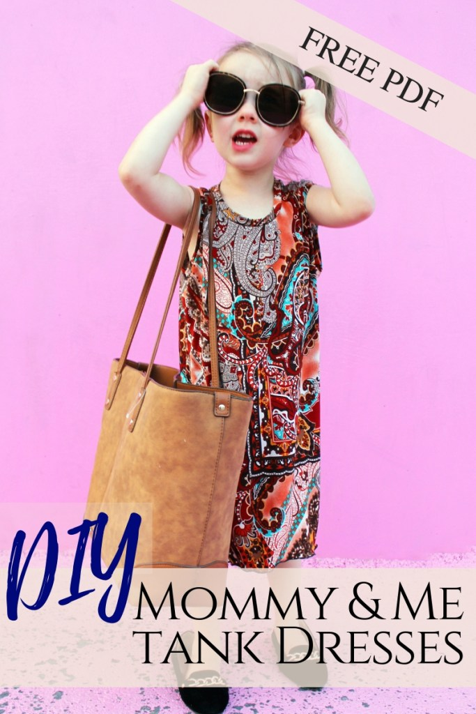 How to make DIY matching mommy and me fashion tee shirt dresses free printable pdf