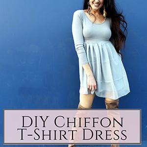 chiffon t-shirt dress