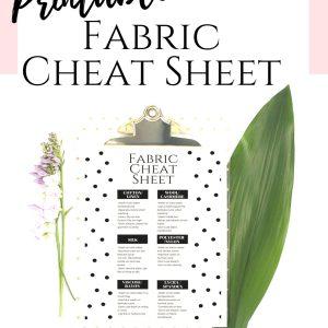 fabric care cheat sheet