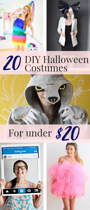 20 Easy DIY halloween costumes for women for under twenty dollars