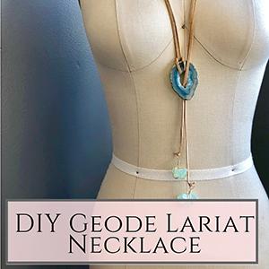 DIY Geode Lariat
