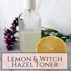 DIY lemon and witch hazel facial toner