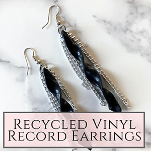 DIY vinyl record jewelry