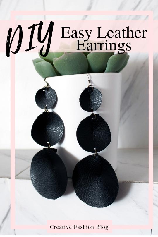 How To Make Joanna Gaines Inspired DIY boho Leather Earrings DIY 3 ways