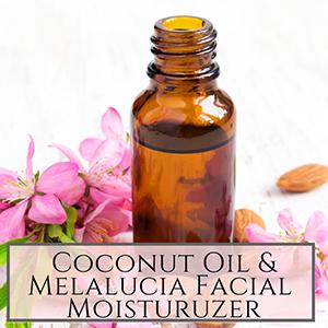 coconut and melalucia facial oil