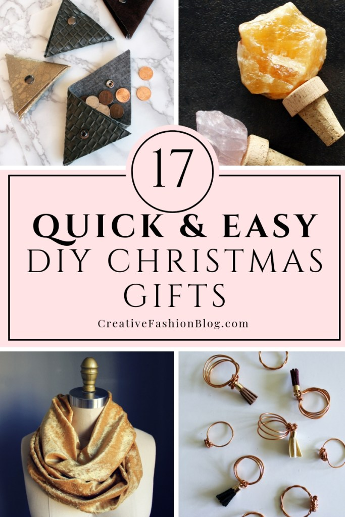 17 quick and easy DIY Christmas Gifts