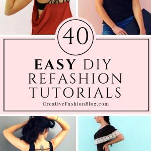 40 easy refashion tutorials anybody can do