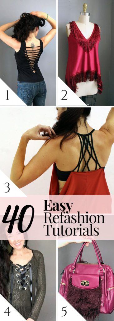 40 easy refashion tutorials anyone can do