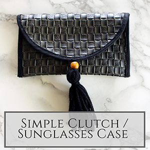 Basic Clutch sunglasses holder with FREE pdf printable pattern download small
