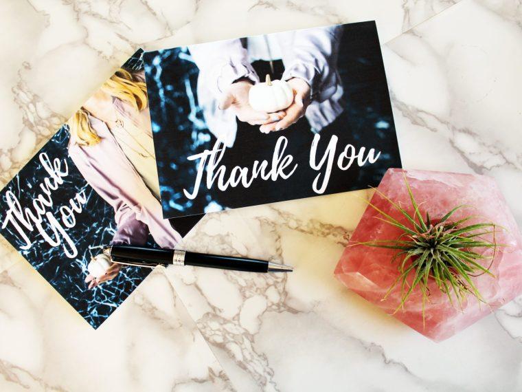 FREE printable feminine pumpkin Blank Thank You Cards..