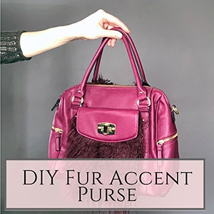 Fur accent purse