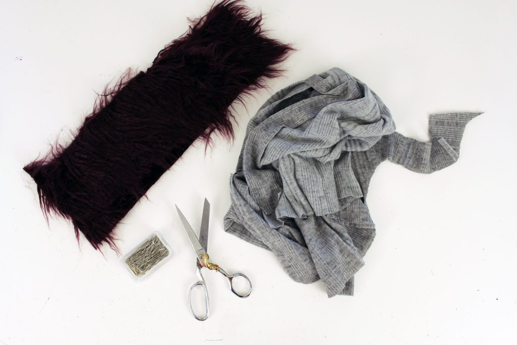 How to Make an easy faux fur DIY Christmas Stocking FREE printable pattern