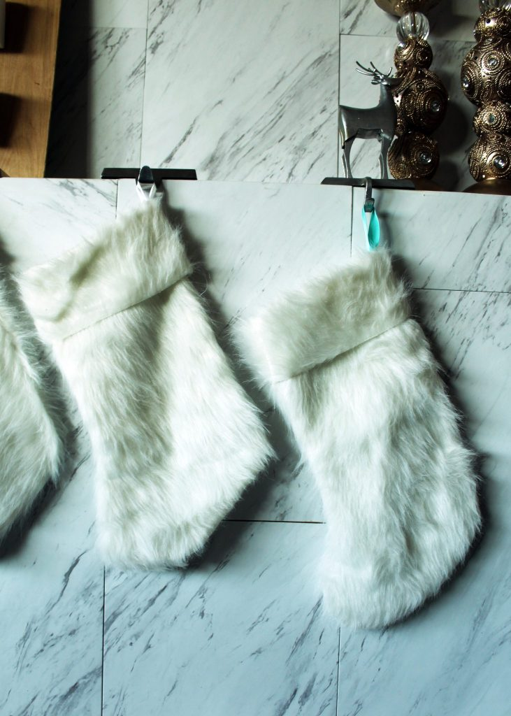 How to Sew a faux fur DIY Christmas Stocking FREE printable pattern