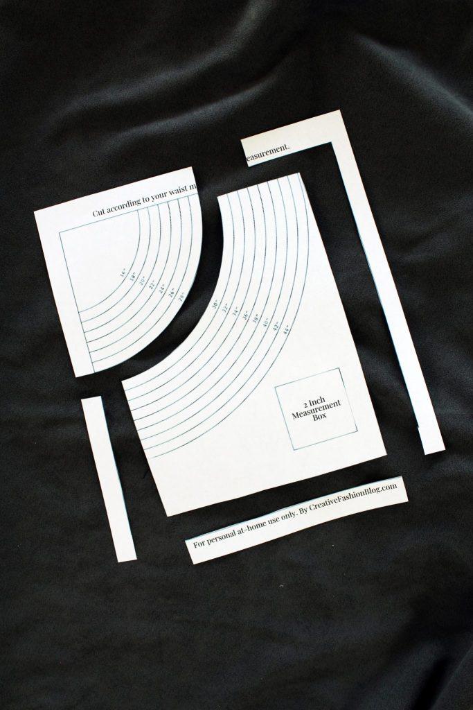 How to make a circle skirt FREE pattern printable tutorial