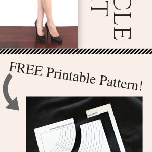How to make a simple suede circle skirt . FREE pattern printable tutorial