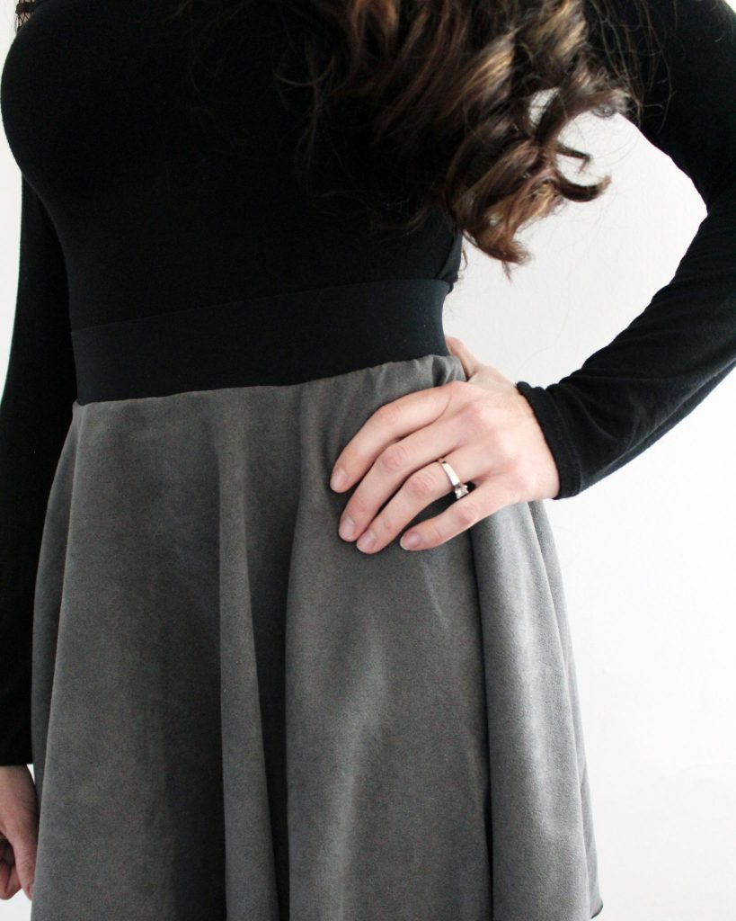 How to make a suede circle skirt FREE pattern printable tutorial