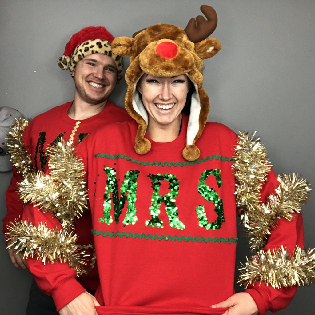 How to make an easy diy ugly Christmas Sweater from Christmas decorations .......