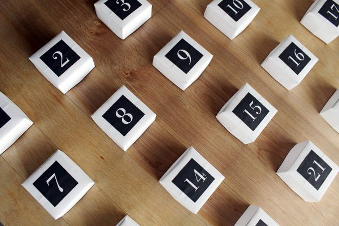 how to make a giant DIY advent calendar