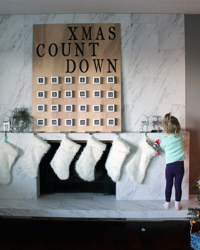 how to make a giant advent calendar