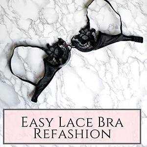 lace bra refashion
