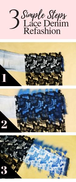 3 Steps to an easy denim jeans refashion makeover tutorials