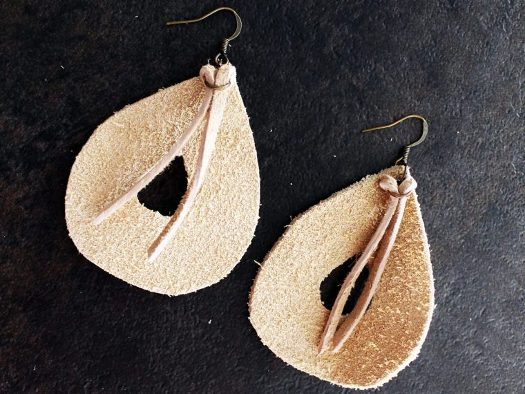 Easy DIY leather boho earrings tutorial