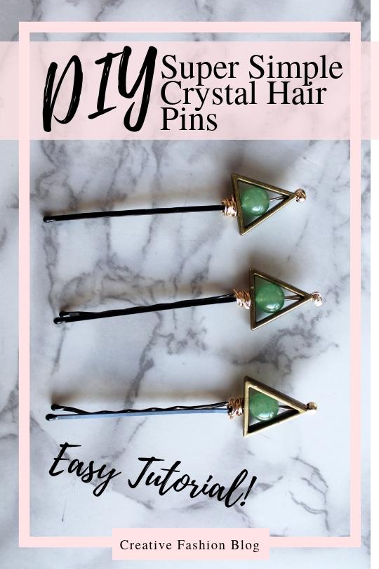 How to Make Crystal DIY Hair Pins. boho chic hair accessory