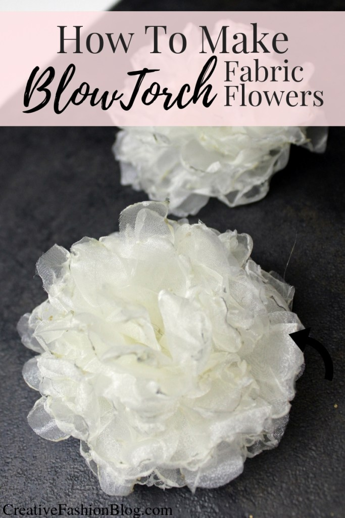 How to make DIY fabric flowers using silk and a blow torch flame. Easy Roses and peonies tutorial