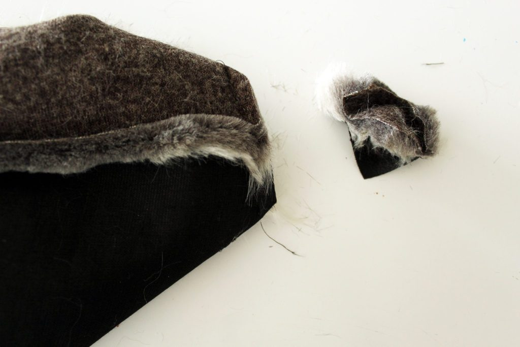 How to make a tote with fur and leather beginner sewing tutorial..