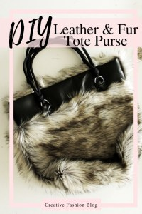 How to make a tote with fur and leather easy beginner sewing tutorial