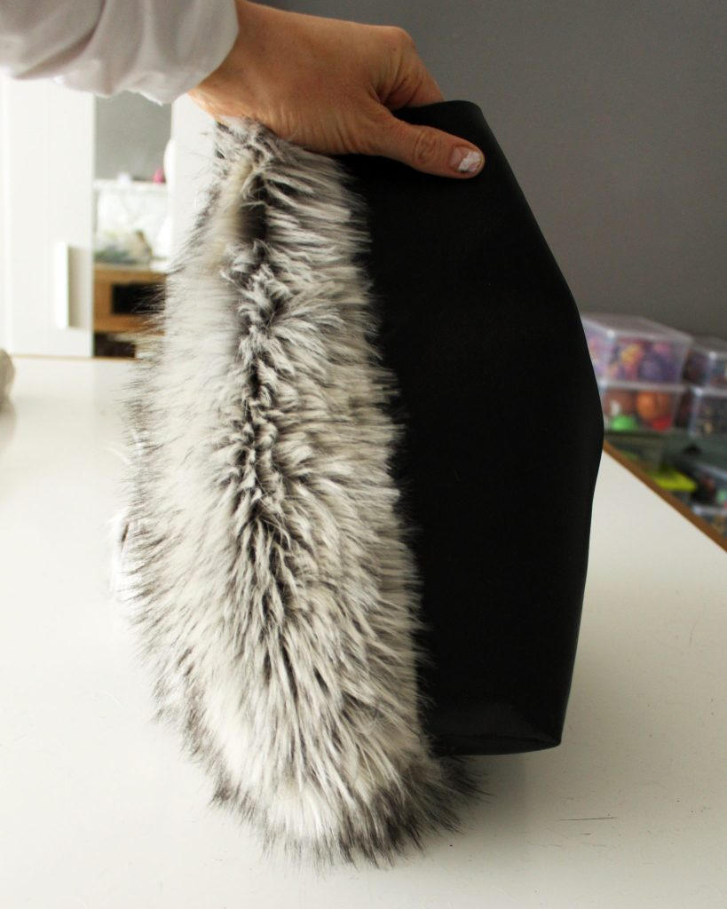 How to make a tote with fur and leather sewing tutorial..