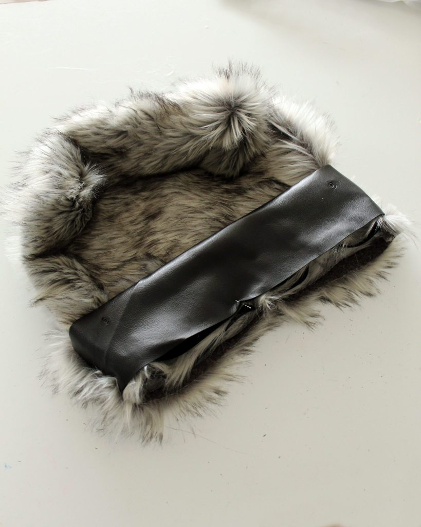 Sewing DIY How to make a tote with fur and leather