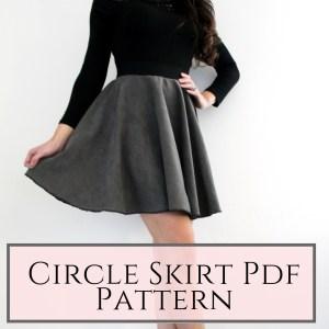 Circle skirt printable pattern