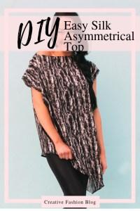How to make a silk asymmetrical top DIY new pattern shirt easy beginner sewing tutorial