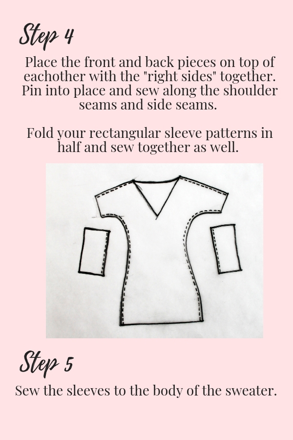 How to make your own DIY sweater easy beginner sewing tutorial printable pdf pg 3