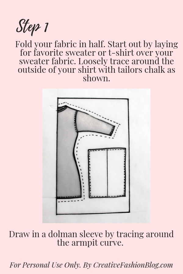 How to make your own DIY sweater easy beginner sewing tutorial printable pdf pg 4
