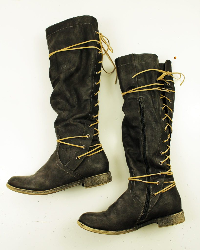 Refashion Your Leather Boots In Just Ten Minutes with Simple Suede Lace!